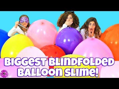 SLIME CHALLENGE SLIME WITH GIANT BALLOONS