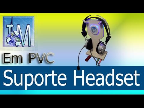 Suporte Headset em PVC