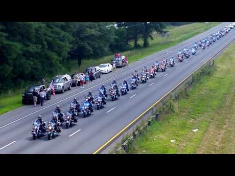 Funeral procession for U.S. Marine Skip Wells 575