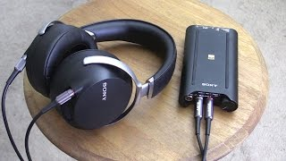 Sony Hi-Res Audio PHA-3 and MDR-Z7.