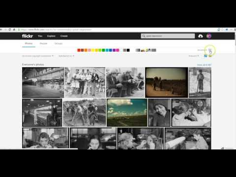 How to search Flickr The Commons and download images