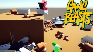 Gang Beasts - WWE Moves [Father and Son Gameplay]