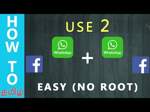 (Tamil-தமிழ்) How to Use 2 Whatsapp , Facebook in 1 Android Device(NO ROOT) 2016 ? | TAMILTECH