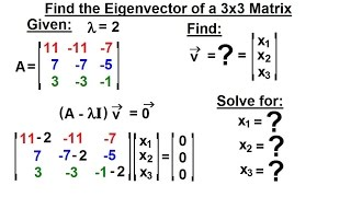 Linear Algebra: Ch 3 - Eigenvalues and Eigenvectors (8 of 35) Eigenvector=? of a 3x3 Matrix