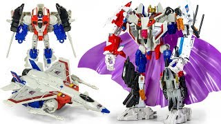 Transformers POWER of the PRIMES Voyager Starscream Combiner Robot Toys