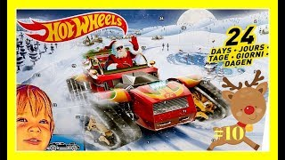 M&M Light and Sound Christmas Tree opens #10 [Hot Wheels Reindeer]!