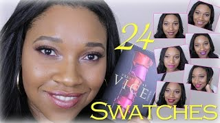 Urban Decay Vice Lipstick Swatches|kaytc31