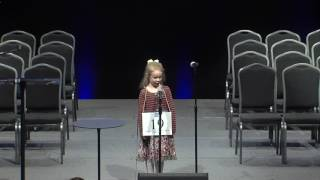 5-year-old Edith Fuller wins Green Country Regional Spelling Bee in Tulsa