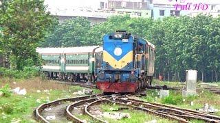 Rajshahi To Dhaka Intercity Train Silk City Express  Entering Kamalapur Railway Station, Dhaka