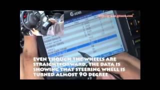 آموزش کالیبره کردن سنسور زاویه فرمان با دیاگ جی اسکن - خودروهای آسیایی