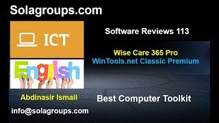 SoftwareReviews 113 Wise Care 365 and WinTools .net