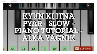 Kyon Ki Itna Pyar Tumko Piano Tutorial | Salman Khan | Mobile Perfect Piano tutorial