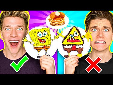 Xxx Mp4 PANCAKE ART CHALLENGE 3 Learn How To Make Spongebob Star Wars Jedi Amp Wonder Woman DIY Pancake 3gp Sex