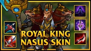 Nasus TOP | Royal King Nasus Skin | MAX LETHALITY ON NASUS | League Of Legends