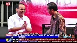 Pesan Jokowi Terhadap Relawan Projo Hadapi Tahun Politik