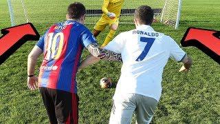 Cristiano Ronaldo vs. Messi - 1v1 Football | In Real Life!