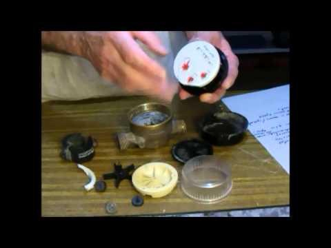 Contador de agua. Componentes y funcionamiento