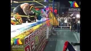 Official footage AAA Perro Aguayo Jr. dies match vs Rey Mysterio former wwe superstar
