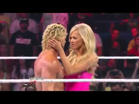 Summer Rae kisses Dolph Ziggler   WWE RAW 6 30 2014   720p HD