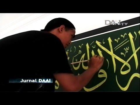 Dakwah Kaligrafer Muda Muhajir Sang Penulis Kaligrafi Liputan Divani Kaligrafi di DAAI TV 2010