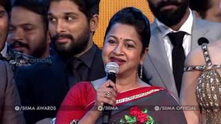 Radhika & Suhasini Awesome Comments on Mega Star Chiranjeevi at SIIMA 2016 Telugu