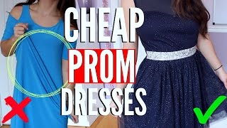 Trying On PROM DRESSES UNDER $40 DISASTER !!