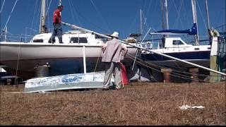 Stepping the mast second chance sailing part 2