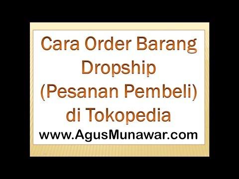 Cara Order Barang Dropship di Tokopedia
