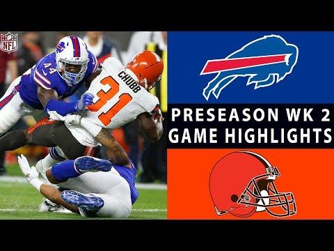 Xxx Mp4 Bills Vs Browns Highlights NFL 2018 Preseason Week 2 3gp Sex
