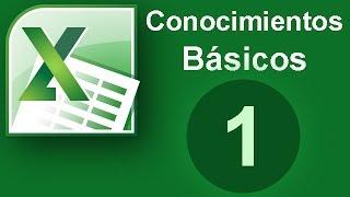 Tutorial Excel (Cap. 1) Conocimientos basicos