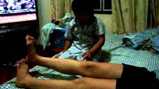 Son massages his mum