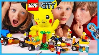 New Lego City Mini Sets Time Lapse Build and Pretend Play