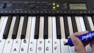 How To Label Keys On A Piano/Keyboard
