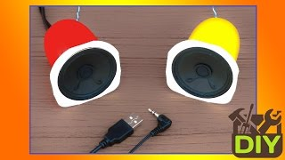 █ How to Make a USB Speaker at home █