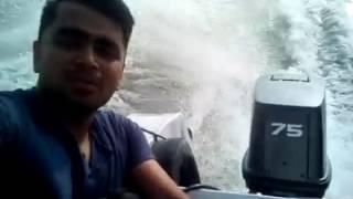 on the way to sandwip via speed boat (সন্দ্বীপের পথে যাত্রা )