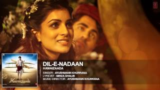 'Dil-e-Nadaan' Full Audio Song | Ayushmann Khurrana | Hawaizaada | T-Series
