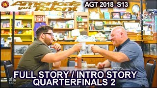 Noah Guthrie and his Dad Full INTRO STORY QUARTERFINALS 2 America's Got Talent 2018 AGT