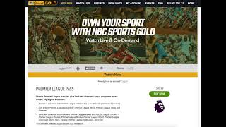 26 August 2017 - NBC Sports Gold is Crap