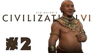 Let's Play: Civilization VI -- Deity Khmer! -- Part 2