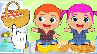 BABY ALEX AND LILY 🗻 Make Ready for Picnic on Mountains | Educational Cartoons
