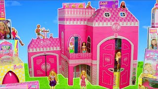 Barbie Dolls: Giant Dreamhouse Dollhouse w/ Toy Surprise & Camper Car | Doll Play for Kids