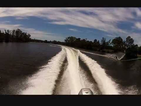 Waterskiing - Nath and Sal's recovery day