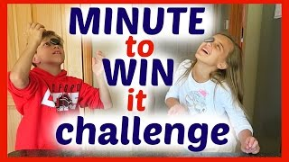 MINUTE TO WIN IT CHALLENGE - ROUND ONE!