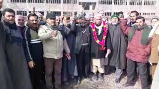 A Newly-elected Panches And Sarpanches Of Panchayat From Ganderbal Called On SSP Gande