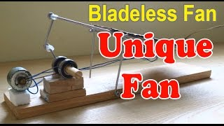 How to make Bladeless Fan at home | Unique Fan
