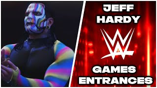 WWE 2K Games - Jeff Hardy Entrance Evolution (From Smackdown Just Bring It to WWE 2K19)