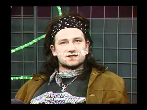 Bono U2 TV Gaga RTE 1986 question from Paddy Talbot in the audience.