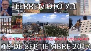 Momentos exactos del Terremoto de 7.1 en Mexico