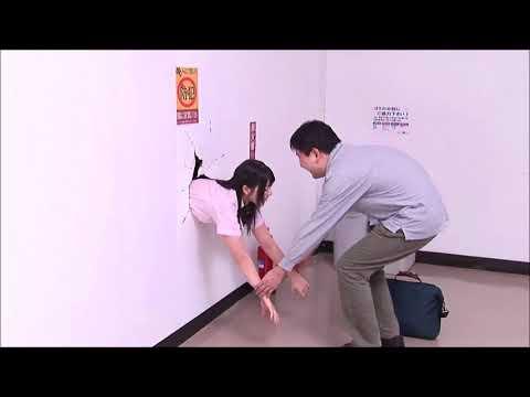 Poor Japanese Girl Ai Uehara Stuck in Wall :(