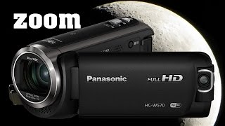 Panasonic HC-W570 HD Camcorder 90x Zoom Test without tripod